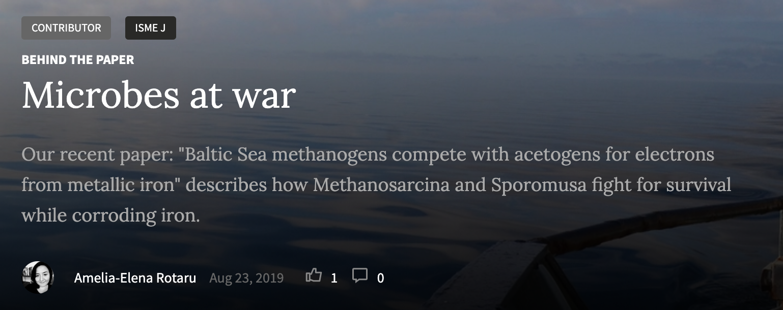 New publication from the lab and a Nature Microbiology blog